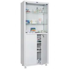 Шкаф медицинский МД 2 1670/SG (двухстворчатый стекло/метал,1655*700*320)
