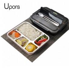 Ланч-боксы из нержавеющей стали для приема пищи ,4 ячейки с крышкой