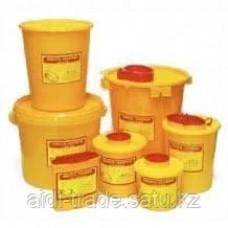 Пластиковые контейнеры для сбора медицинских отходов и острых инструментов